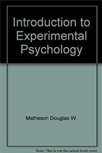 Introduction to experimental psychology