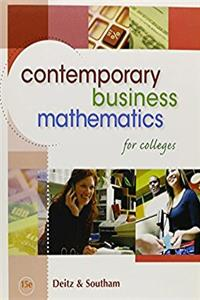 Contemporary Business Mathematics for Colleges (Book Only)