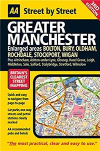 AA Street by Street: Greater Manchester: Enlarged Areas: Bolton, Bury, Oldh ...