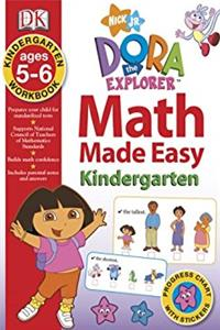 Math Made Easy: Dora the Explorer Kindergarten Workbook